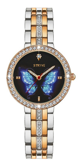 Luxo Crystal Case Full Steel Mulheres Watch Senhoras Vestido