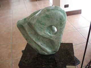 Escultura De Piedra Jabonosa Verde,