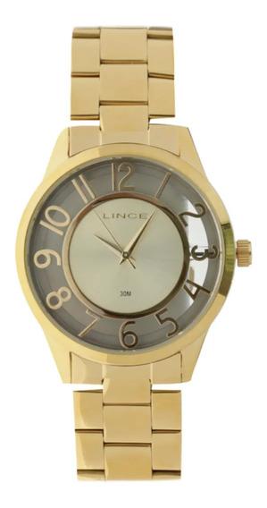 Relógio Feminino Lince Lrg4347l C2kx Dourado Lindo E Barato