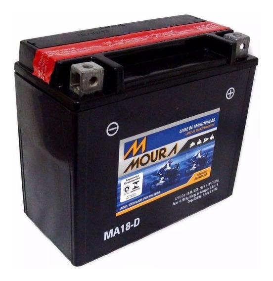 Bateria Moura Hd Ma18-d Hd Xl 1200 C Sportster Custom Harley