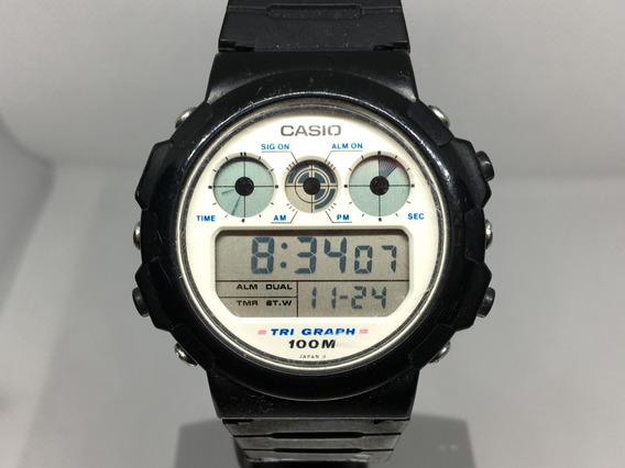 Reloj Casio Tgw-10 Modulo 827 Tri Graph Para Coleccionistas