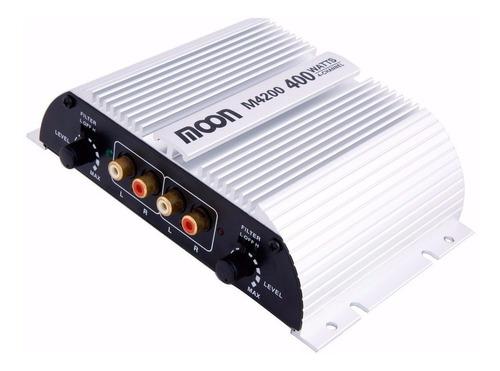 Potencia Amplificador De Auto Moon M4200 4 Canales 400 Watts