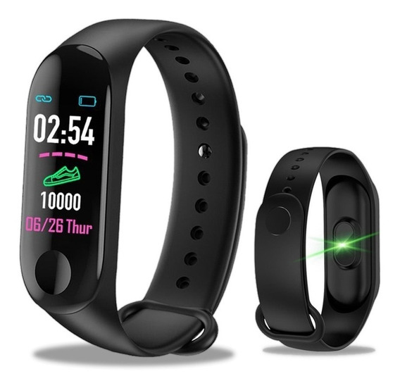 Relógio Inteligente Smartband M3 Monitor Cardíaco E Pressão