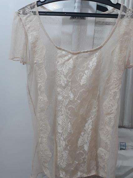 Camisa De Renda Transparente Linda D