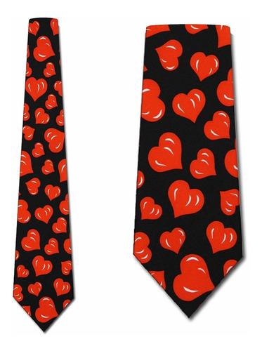 Corbata Corazones Corbatas Hombre Día De San Valentín C...