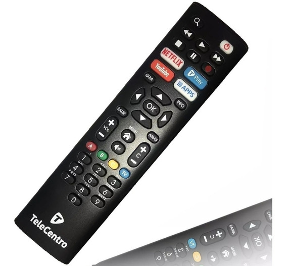 Control Remoto Telecentro Netflix Youtube T-play Dciw303 Hd