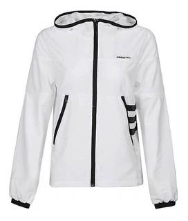 Jaqueta adidas Neo Fitness Feminina Preto E Branca