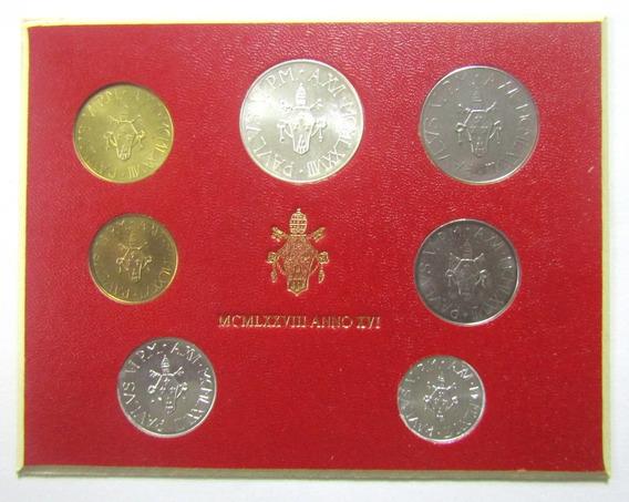 Vaticano 1978 Set De 7 Monedas Liras Unc Sin Circular Año 16