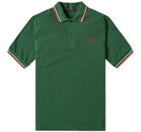 Fred Perry Polo M12 Hecha En Uk Mediana