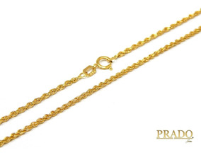 Corrente Colar Cordão Baiano Em Ouro 18k 50cm