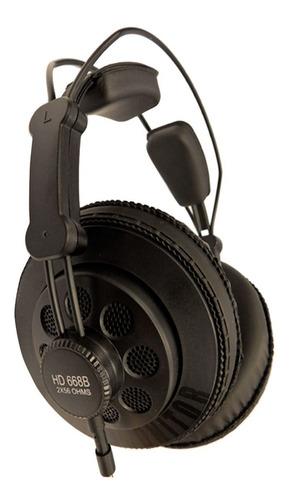 Imagen 1 de 3 de Auriculares Superlux Hd668b Negro