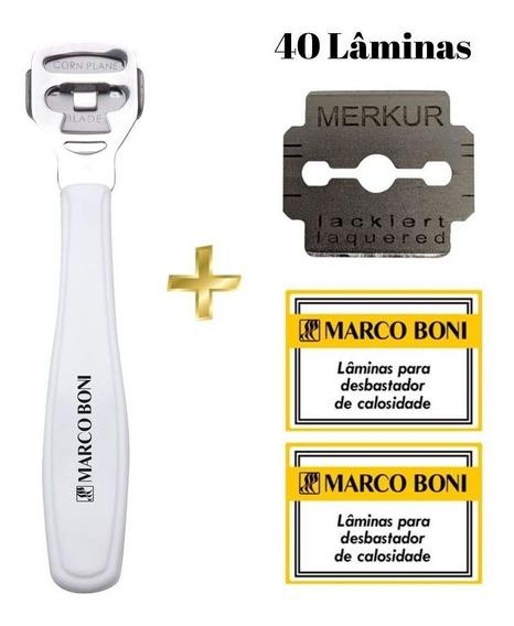 Kit Remove Calos - 1 Desbastador De Calosidade + 40 Lâminas