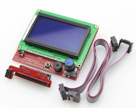 Display Controladora Lcd 128x64 Impressora 3d Reprap C/ Nota