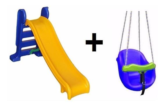 Escorregador Infantil Playground + Balanço Bebe