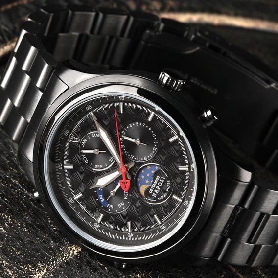 Relógio Detomaso Napoli Black Aço Inoxidável