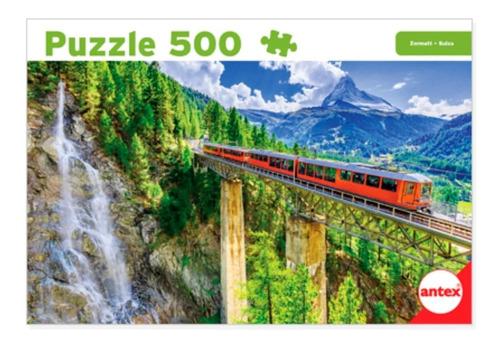 Imagen 1 de 3 de Puzzle 500 Piezas Rompecabezas Suiza Zermatt Tren Antex 3070