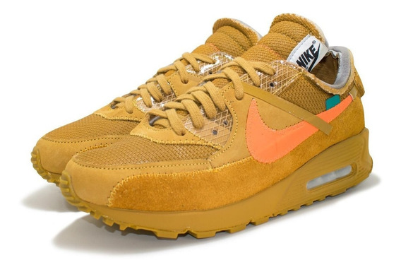 Tênis Air Max 90 Off - White Lançamento Outlet Originals