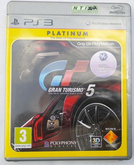Jogo Ps3 Gran Turismo 5 Platinum Perfeito Com Manual