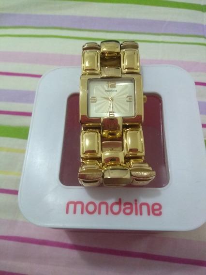 Relógio De Pulso Feminino, Dourado Mondaine