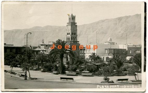 Postal Plaza Prat Iquique Chile 1938