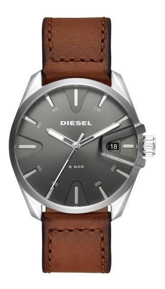 Relógio Masculino Diesel Original Puls De Couro Dz1890/0mn