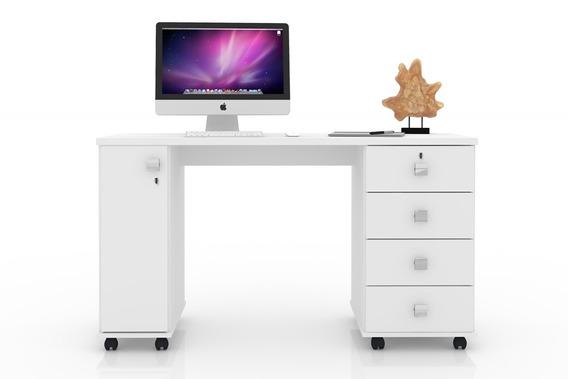 Mesa Escrivaninha Computador Smart Com 4 Gavetas - Lukaliam