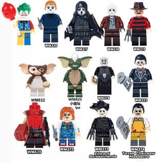 Mini Figuras Jason Freddy Joker Cine Movie Maniacs Tipo Lego