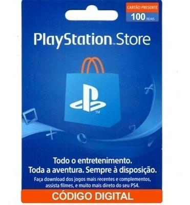 Cartão Playstation Virtual R$ 100