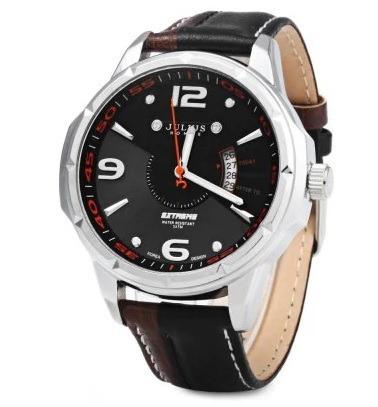 Relógio De Pulso Masculino Preto Julius Original Promoção