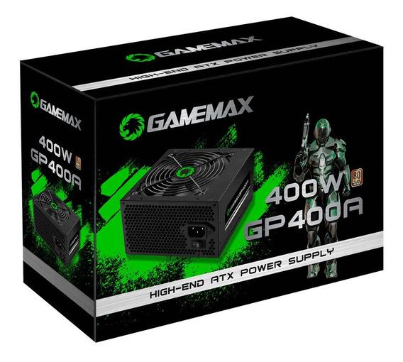 Fonte Atx 400w Gp400a 24p Sata C/ Cabo 80 Plus Preto Gamemax