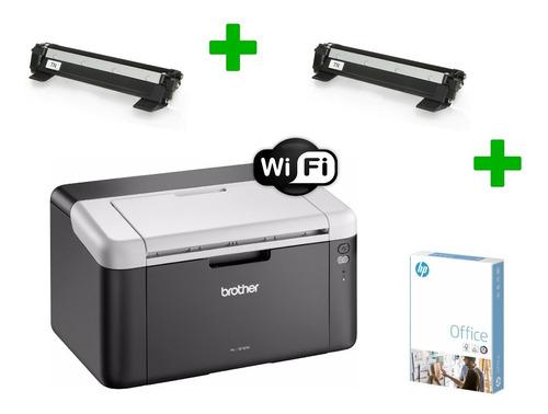 Impresora Laser Brother Monocromatica Wifi + 2 Toner + Papel