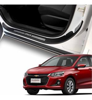 Soleiras Super Protetoras Para As 4 Portas Onix Hatch 2020
