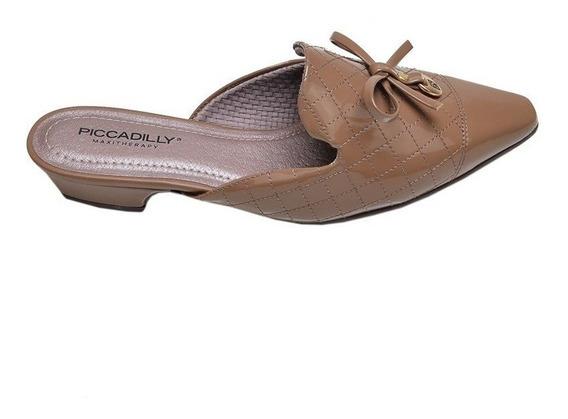 Sapato Feminino Mule Piccadilly Marrom Chocolate