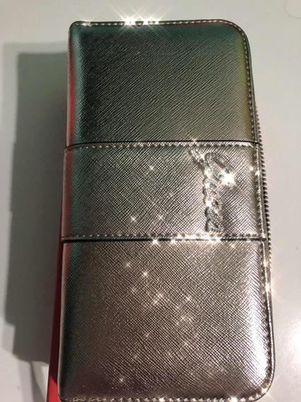 Billetera Dorada Guess Importada Mujer