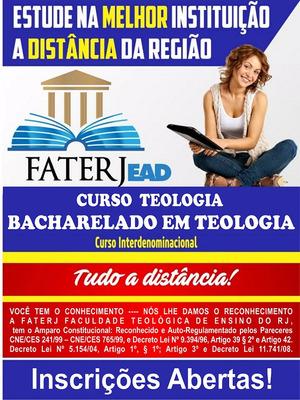 Bacharel Em Teologia Pela Faterj - Faculdade Teológica Do Rj