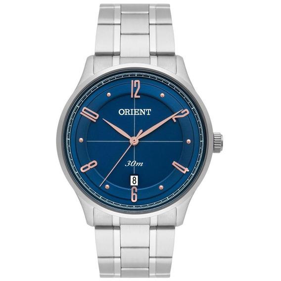 Relógio Masculino Original Orient Cromado C/ Nota E Garantia