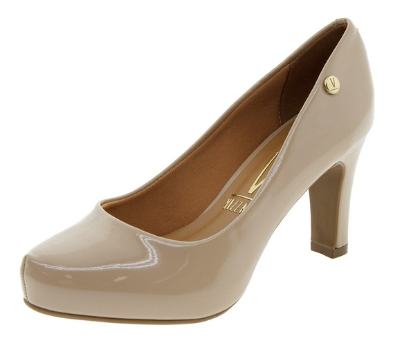 Sapato Feminino Salto Alto Bege Vizzano - 1840101