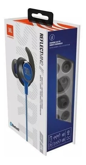 Fone De Ouvido Bluetooth Jbl Reflect Mini 2 - Azul