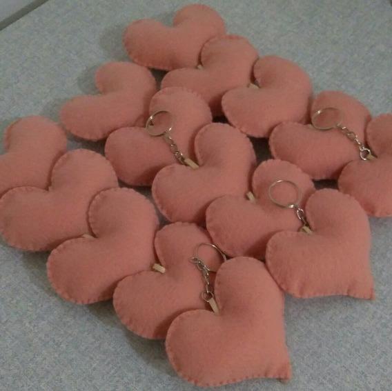 Chaveiro Coração Feltro Lembrancinha Debutante 150 Unidades