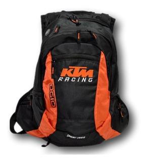 Mochila Backpack Ktm Ogio Negro Con Naranja