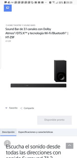 Sound Bar Sony Ht Z9f
