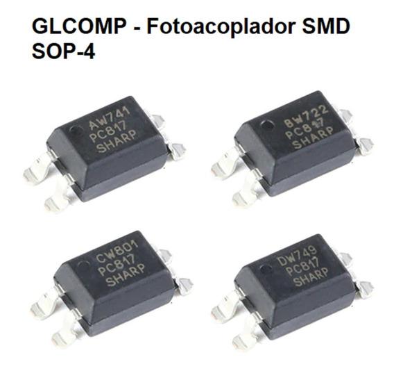 Pc817 Smd Optoacoplador Foto Acoplador Kit C/ 100 Pçs Carta