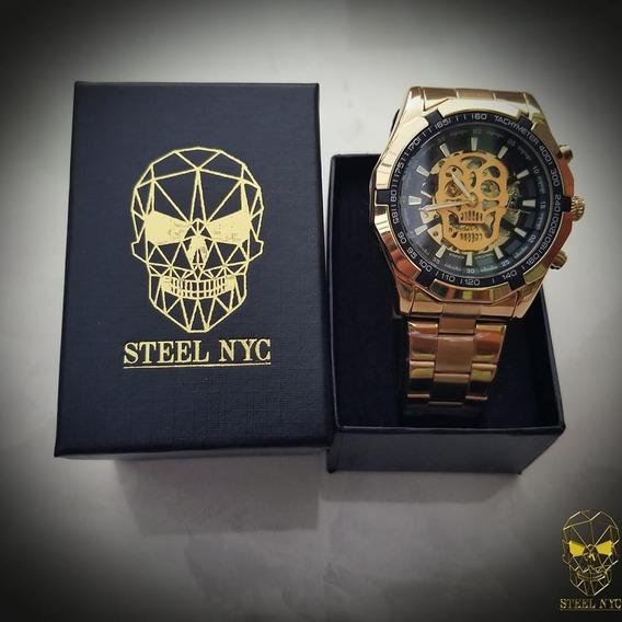 Reloj Skull Steel Mexico Mecanico