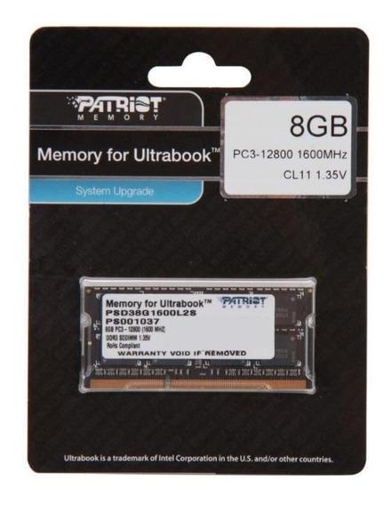 Patriot 1.35v 8gb Ddr3 1600mhz Pc3-12800 Cl11 Sodimm Memory