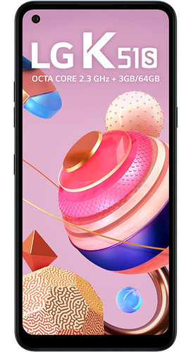 Smartphone LG K51s 64gb Titanium 4g 6,55 Câmera Quádrupla