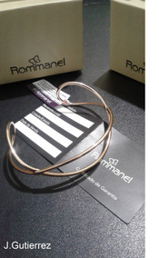 Bracelete Rommanel Fio Tubo Liso Entrelaçado 6,0 Cm (551525)
