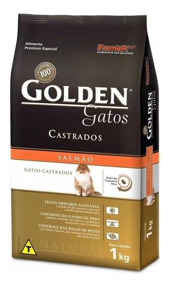 Ração Golden Gato Castrado Salmão 3kg+300gr Grátis