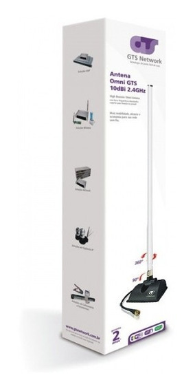 Antena Para Roteador Omni 10dbi 360º Highbooster Gts Networ