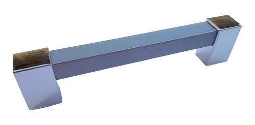Kit 10 Puxadores De Móveis Btr 1/2' 256 Mm Prata Cromado