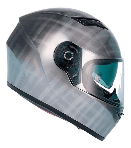Capacete Shiro Sh600 Scratched (c/viseira Solar) Cromado Rs1